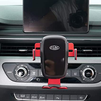 Wireless Charging Phone Holder,Electric Automatic Retractable Air Vent Holds Mount fit for Audi A6 2018 2019,Car Phone Mount fit for iPhone 8,X,XS fit for Samsung S9,S10 Smartphone