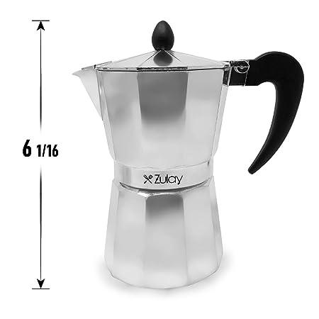 Cafetera clásica de café espresso, de Zulay Kitchen, para 6 tazas ...