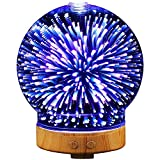 100ML Ultrasonic Essential Oil Diffuser, 3D Effect Glass...