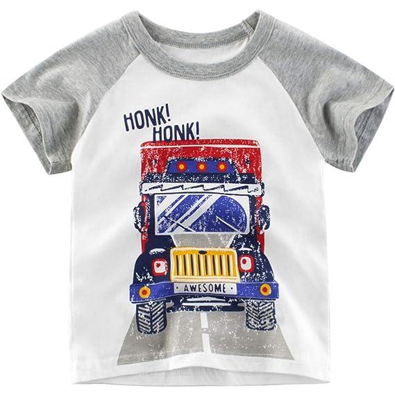 Sensail Enfant Impression De Dessin Animé T Shirt Garçon