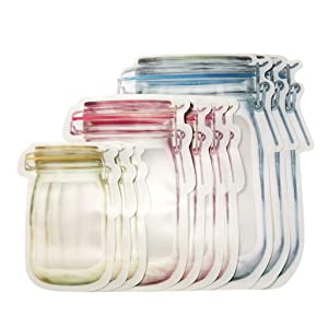 10Pc Preservation Fridge Freezing Food Storage Reusable Jar Bags Fresh Produce (10 pcs)