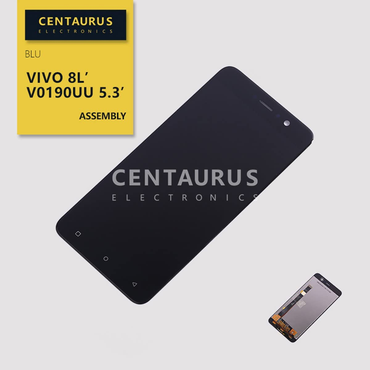 """Assembly Replacement for BLU VIVO 8L V0190UU LTE 5.3"""" LCD Display Touch Screen Digitizer Full Replacement (Black)"""