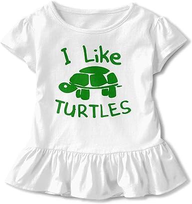 I Like Turtles - Camisetas de manga corta para niñas: Amazon ...