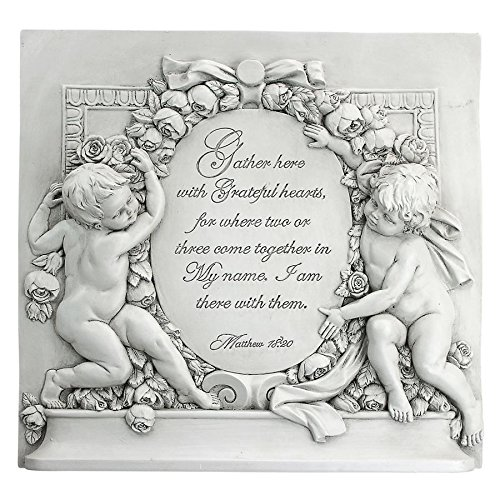 Design Toscano Grateful Hearts Cherub Wall Sculpture