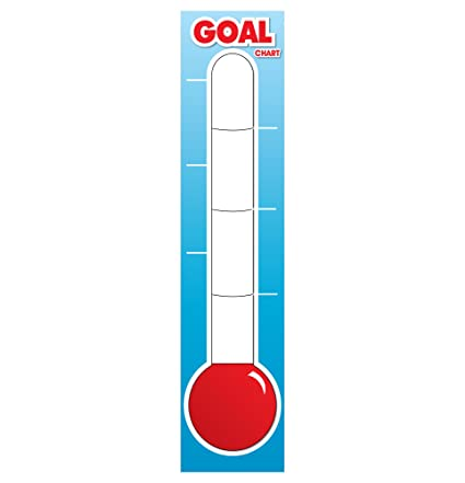 amazon com fundraising thermometer dry erase goal board 48 x