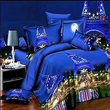 3D Prints Duvet Cover Sets/bedding Sets / Bed Linens (king, 1 Duvet Cover+1 Flat Sheet +2 Pillowcases),KING