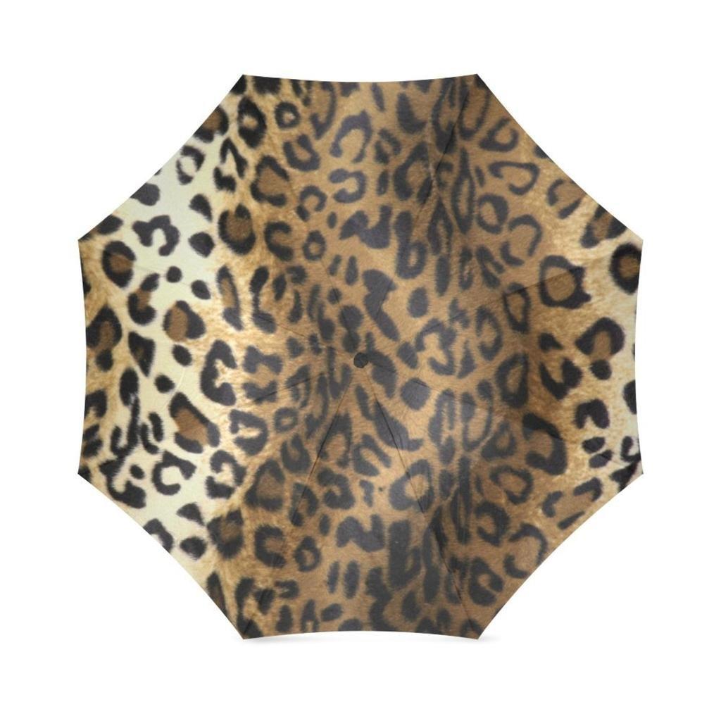 31f35ae2f6b3 EnnE Umbrella Leopard Print Umbrella Foldable Compact Travel Umbrella Rain  Umbrellas 8 Ribs UV Protection lovely