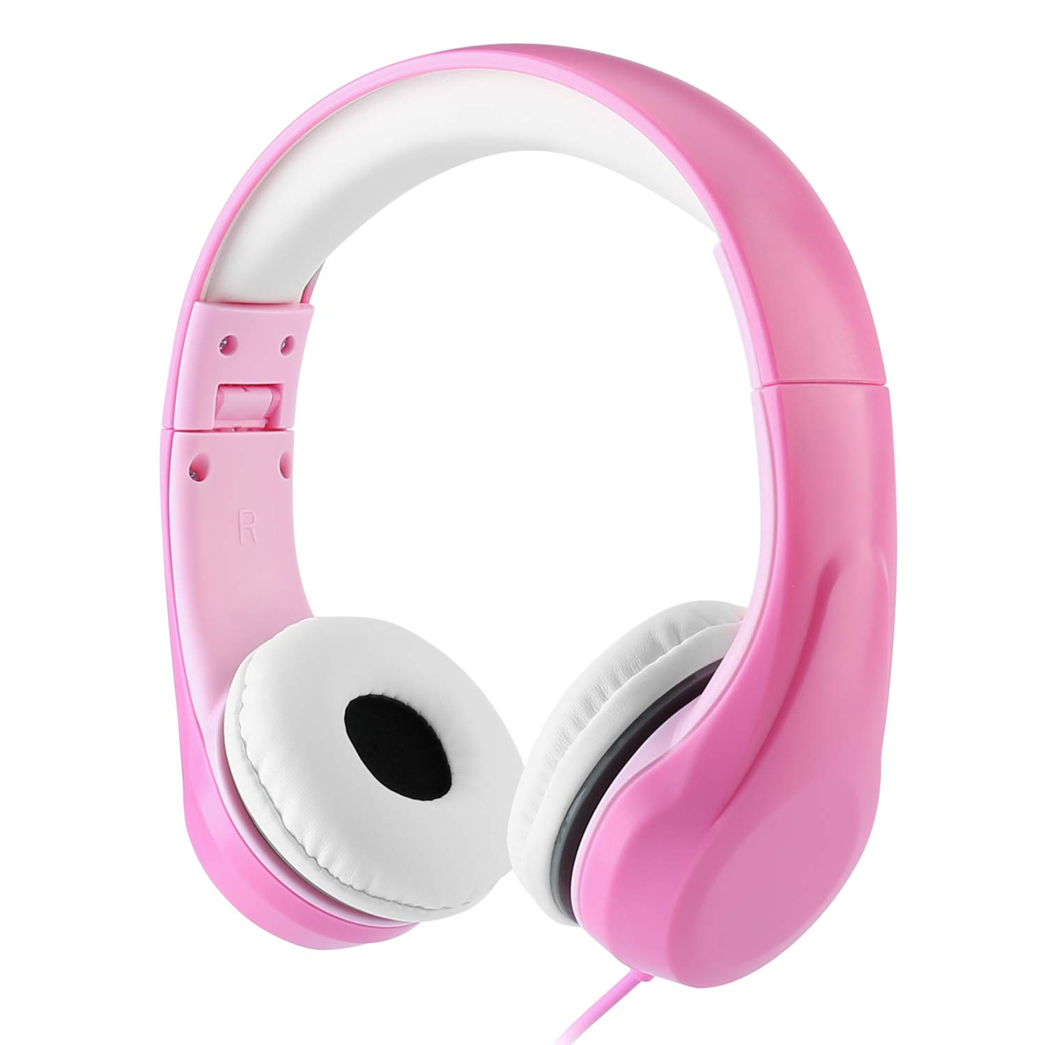 [Volume Limited] Kids Safety Foldable Stereo Headphones,3.5mm Jack Wired Cord Earbuds, Volume Controlled at 85dB On/Over Ear Children Toddler Headset,