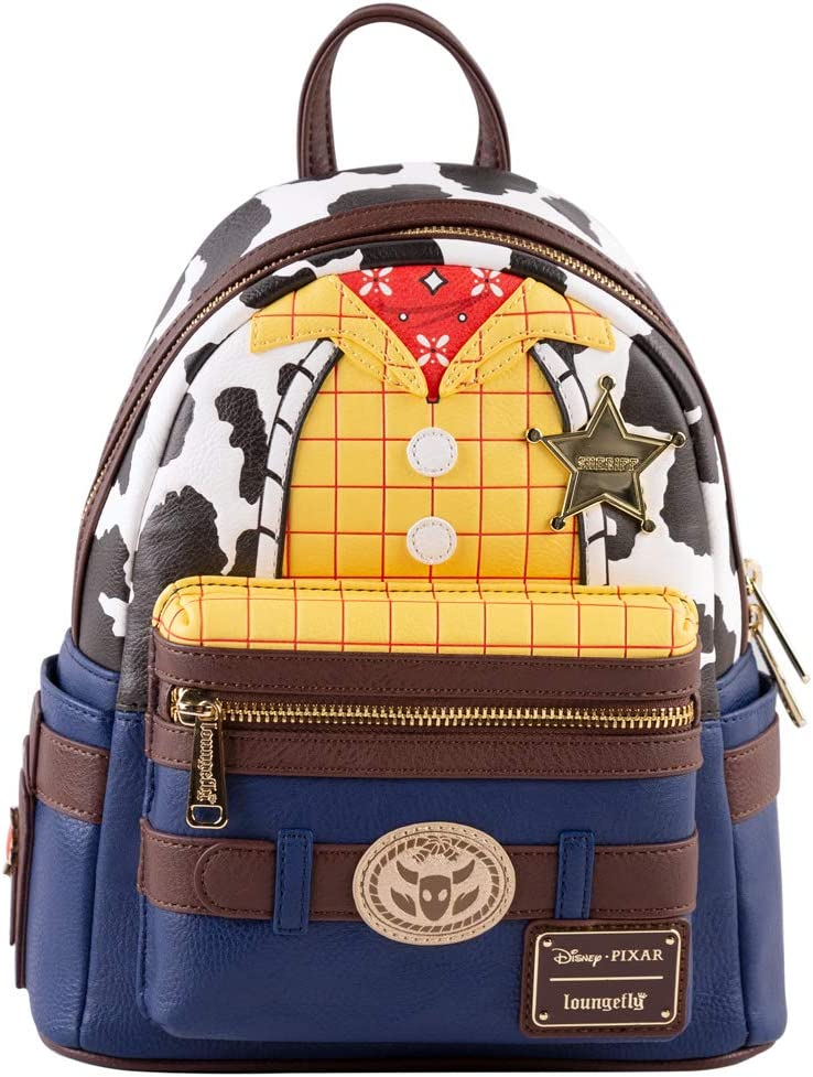 New Women Loungefly Toy Story Woody Cosplay Cowboy Mini Backpack Bag Purse