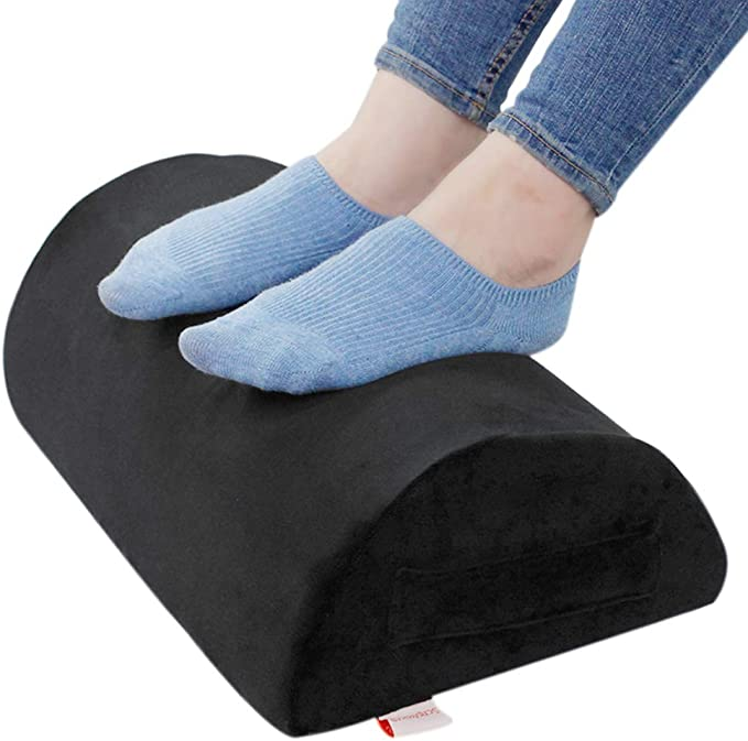 Foot Rest Under Desk Home Accessories and Airplane Travel with Soft Sponge Foam Core Foot Cushion Stool Pillow for Office
