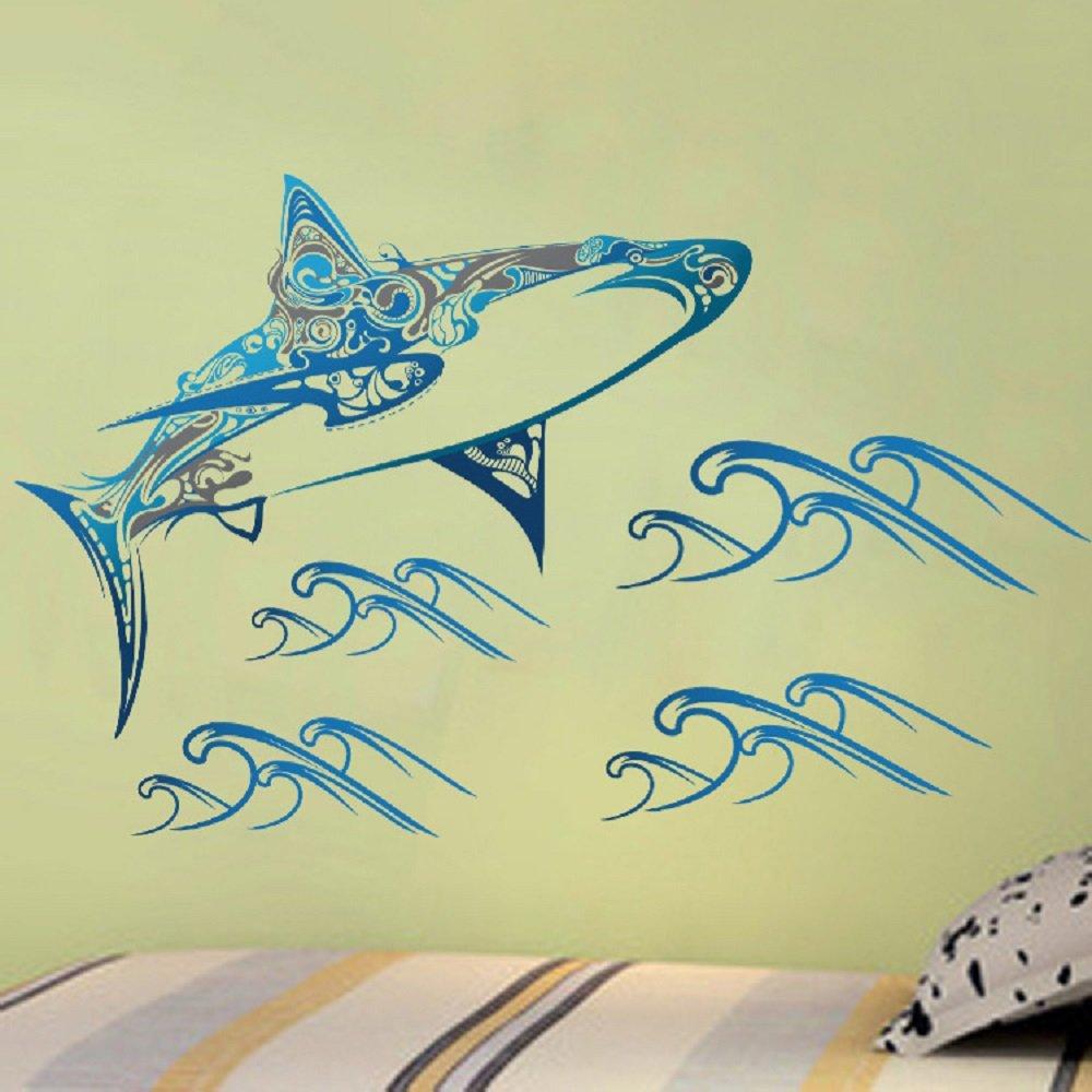 Amazon.com: Amaonm Hote Fashion Removable 3D Blue Whale Wall art ...