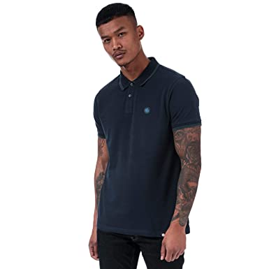 Pretty Green Mens Tipped Pique Polo Shirt-Polo Hombre: Amazon.es ...
