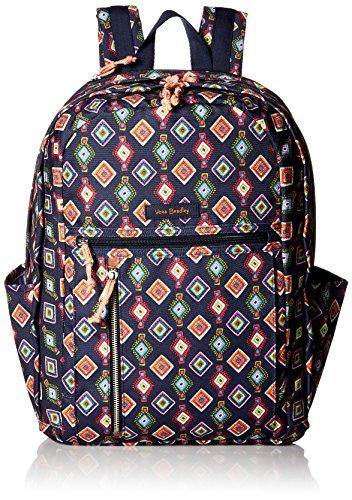 Vera Bradley Women's Lighten up Printed Grand Backpack, Mini Medallions Continental Backpack