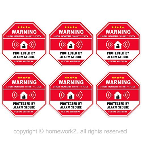Buy security system decal