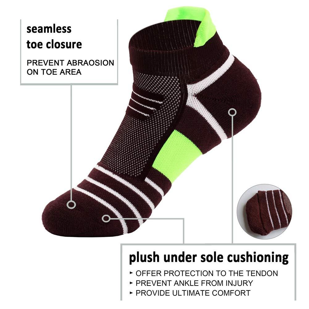 J/&Q Copper Infused Ankle Socks Unisex Athletic Cushion Low Cut Socks