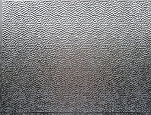 RETRO ART Galvanized Steel Backsplash Panel Kitchen Bathroom Shower Interior Wall Paneling Decor, Residential, Commercial, Galvanized Steel, 18'' x 24'', 3 Sq Ft (Acoustic Panel Reception)