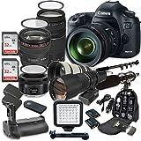 Canon EOS 5D Mark III 22.3 MP Full Frame CMOS Sensor Digital SLR Camera w/ EF 24-105mm f/4 L IS USM Lens + 75-300mm f/4-5.6 III Telephoto + 500mm f/8 Preset Lens + Holiday Accessory Bundle + More!
