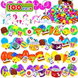 100 Pack Prefilled Easter Eggs with Toys and