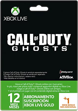 Microsoft - Tarjeta Live 12 Meses + 1 Mes Call Of Duty: Ghosts ...