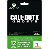 Microsoft - Tarjeta Live 12 Meses + 1 Mes Call Of Duty: Ghosts (Xbox 360)