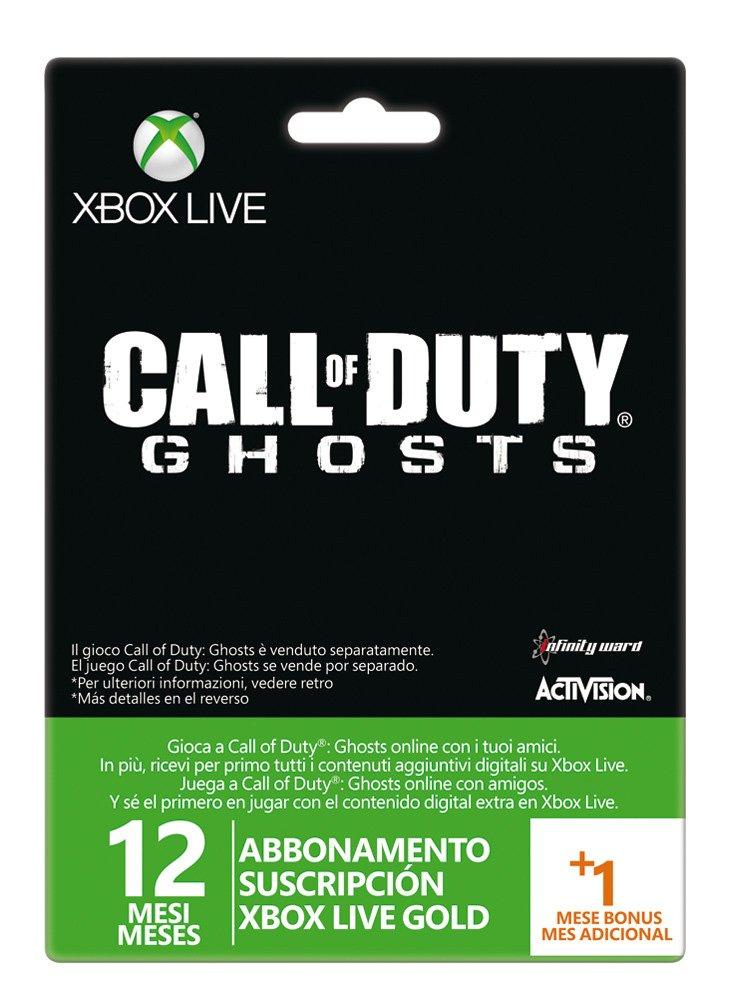 Microsoft - Tarjeta Live 12 Meses + 1 Mes Call Of Duty ...