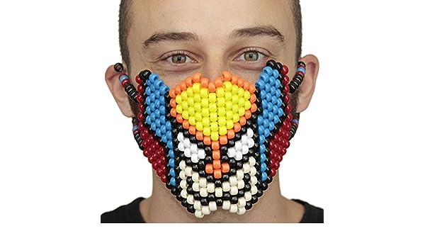 Mascara Kandi de Cara Completa de Wolverine por Kandi Gear, mascara de rave, mascara de halloween, mascara de cuentas para festivales de musica y fiestas: ...