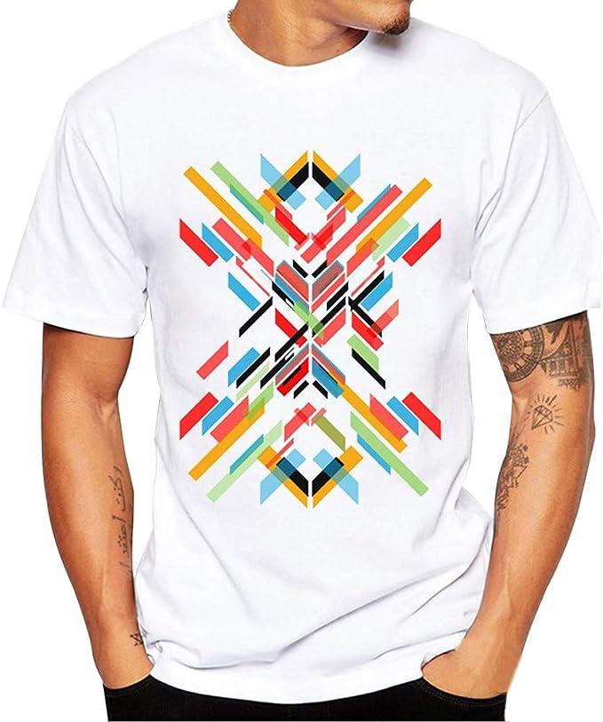 Oliviavan Camiseta De Manga Corta,Verano Moda Hombre Camisetas De Print tee Ocio Suelto Camisas Urbanas Hombre Joven Hombre Camisetas Casual: Amazon.es: Ropa y accesorios