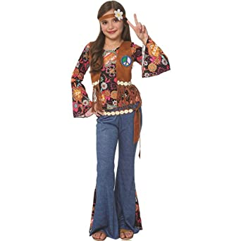 Amazon.com: Paz Out Hippie Kids Costume: Clothing