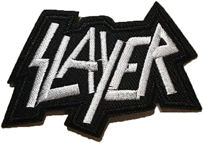 "3.25/"" Iron-on Metal Music Embroidered Slayer Rock Patches SLAYER band PATCH"
