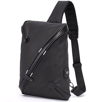 7f8137bb6af Bolso Cruzado Grande para Hombre - Mochila de Bandolera con USB Carga  Antirrobo