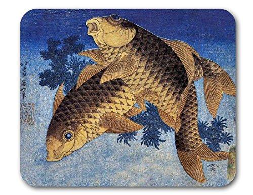 (Hokusai, Japanese Woodcut Mouse Pads (Koi) )