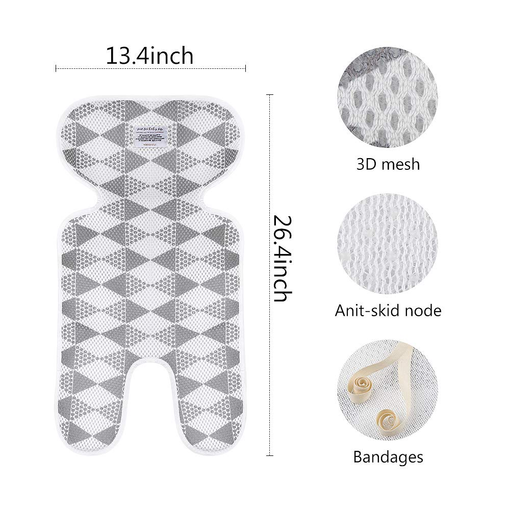Gray Luchild Baby Stroller Cool Seat Mat Breathable 3D Mesh Cool Cushion Liner for Stroller Car Seat High Chair