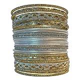 LaRaso & Co Set of Silvertone Bangle Bracelets for Women