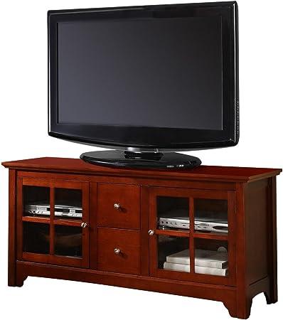 FurnitureMaxx Mueble de Madera Maciza de 132 cm para TV, Color Cerezo: Amazon.es: Juguetes y juegos