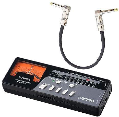 Boss TU12 de Ex Afinador con indicador de aguja + Keepdrum Patch Cable 30 cm