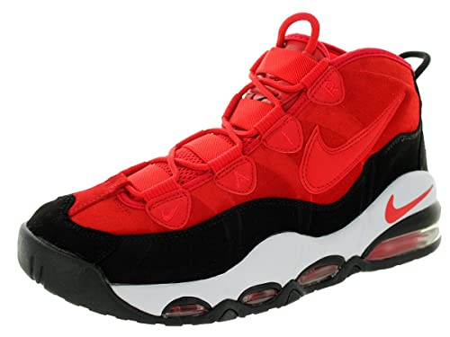Nike Men's Air Max Uptempo Unvrsty Rd/Unvrsty Rd/Blk/Whit Basketball Shoe