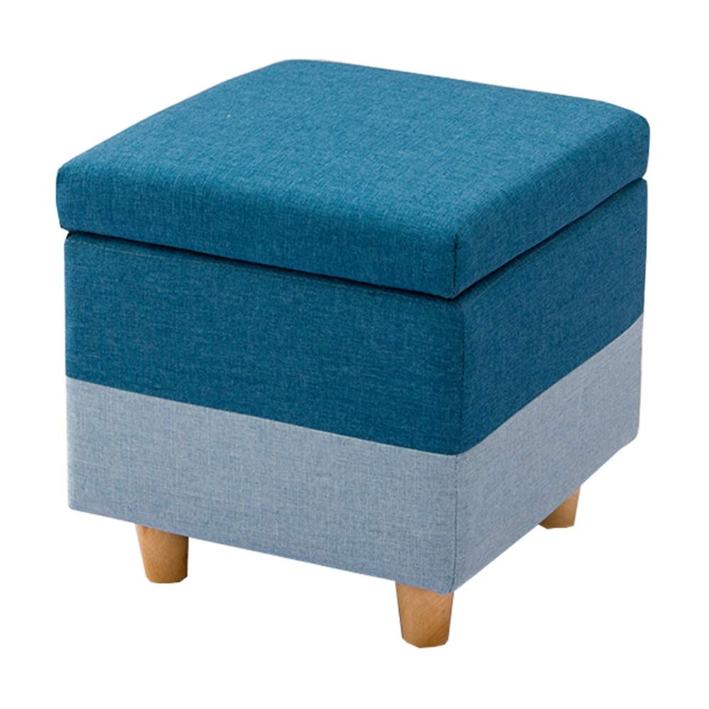 A 404042cm Storage Stool Solid Wood Frame Home Bedroom Living Room Storage Object Stool (color   D, Size   40  40  42cm)