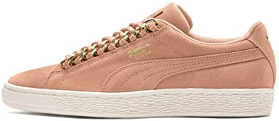 bde5e870392ec4 PUMA Women s Suede Classic X-Chain Dusty Coral Puma Team Gold 6 B US