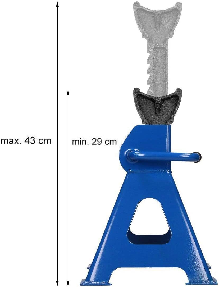 3 Ton Capacity Each Axle Stand for Vehicle Caravan Stand Lifting Heavy Duty Metal Steel Axle Jack Stand Car Support Holding Stand Quick Release Ratchet Adjustment for Garage Workshop Usage Pack of 4