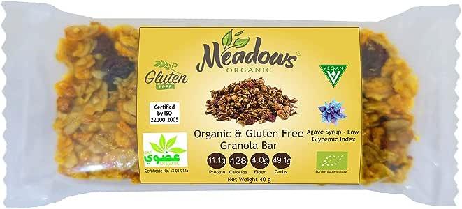Meadows Organic And Gluten Free Granola Bar, 40 gm