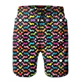 Men's Dachshund Cute Puppy Dog Colorful Quick Dry Lightweight Fashion Board Shorts Swim Trunks M