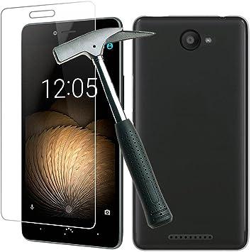 Todobarato24h Funda TPU Lisa Compatible con BQ Aquaris U/U Lite Negra + Protector de Cristal Templado: Amazon.es: Electrónica