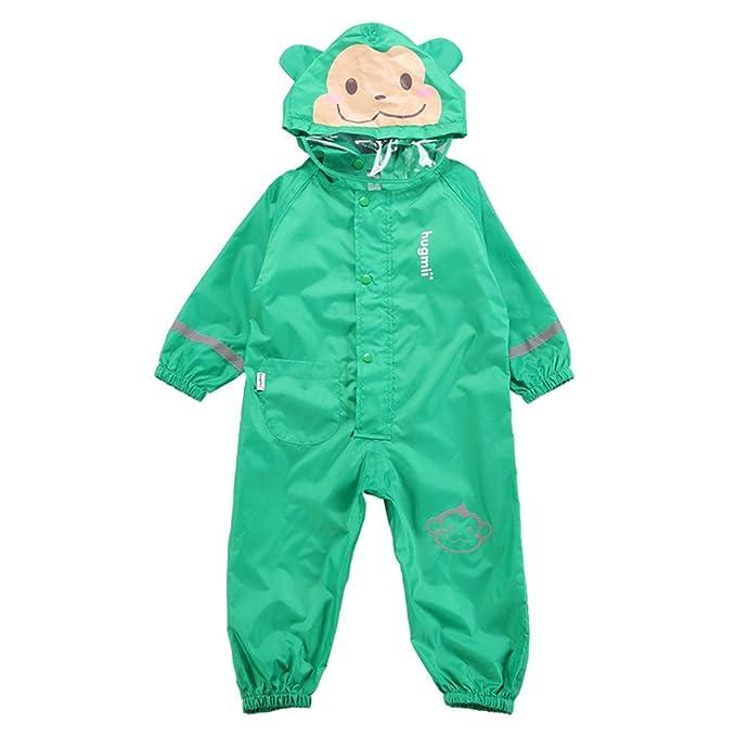 Zilee Kinder Regenanzug Wasserdicht Regen Overall Regenmantel Jungen Mädchen Regenkleidung Regenjacke Softshelljacke Regenponcho Outdoorjacke für
