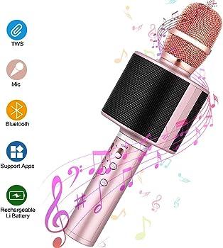 Mbuynow Wireless Bluetooth Portable Karaoke Microphone