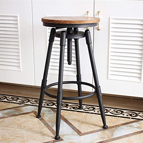 Amazon.com: Industrial Black Counter Height Bar Stool, Retro ...