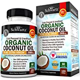 Organisch Coconut Oil 2000mg. Highest Grade Extra Virgin Coconut Oil for Skin, Healthy Weight Loss, Hair Growth. Cold Pressed & Non-GMO Coconut Oil Capsules. Unrefined Coconut Oil Rich in MCFA and MCT