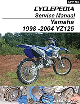 cpp 160 p 1998 2004 yamaha yz125 cyclepedia printed motorcycle