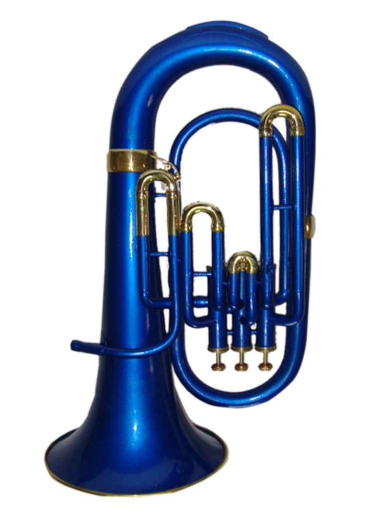 OSWAL Bb Flat Blue Brass Euphonium With Free Hard Case Mouthpiece