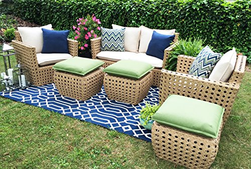Captivating AE Outdoor Bethany 6 Piece Deep Seating With Sunbrella Fabric