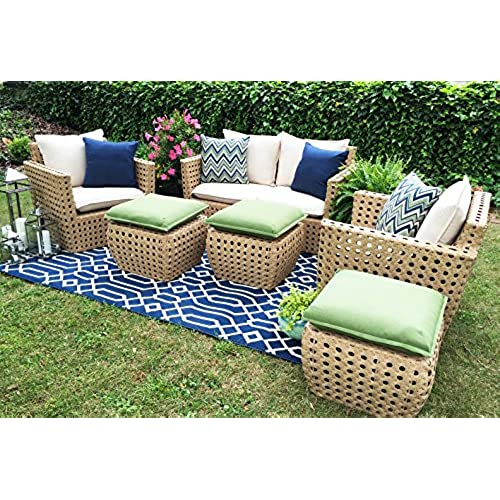 AE Outdoor Bethany 6 Piece Deep Seating With Sunbrella Fabric
